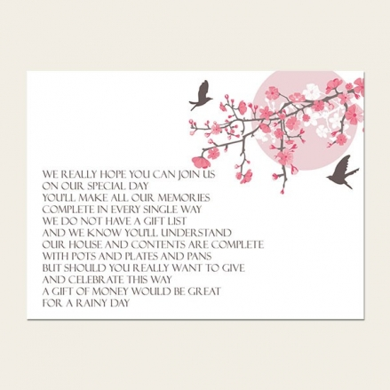 Blossoming Love - Gift Poem Cards