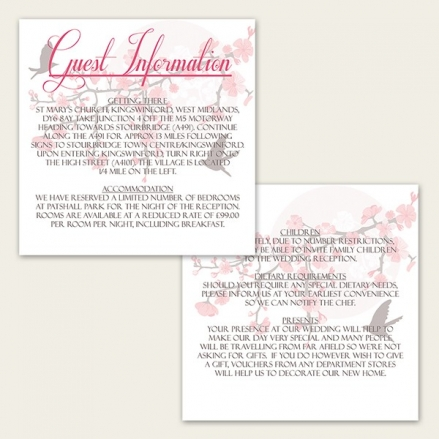 Blossoming Love - Guest Information