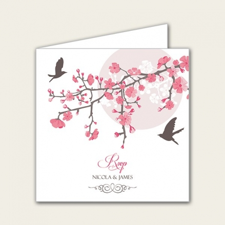 Blossoming Love - Wedding RSVP Cards