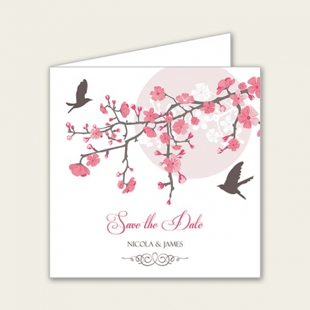 Blossoming Love - Save the Date Cards