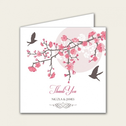 Blossoming Love - Wedding Thank You Cards