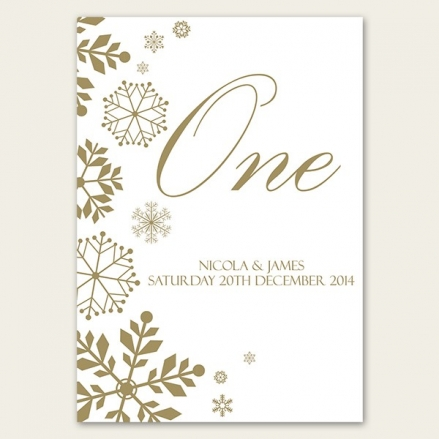 Falling Snowflakes - Table Name/Number