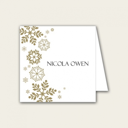Falling Snowflakes - Wedding Place Cards