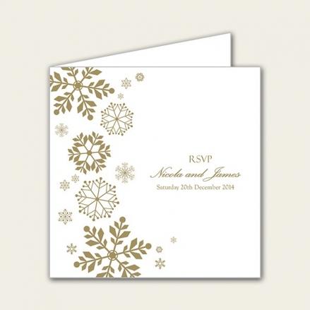 Falling Snowflakes - Wedding RSVP Cards