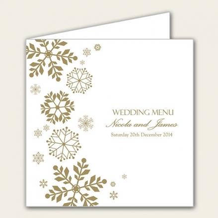 Falling Snowflakes - Wedding Menus