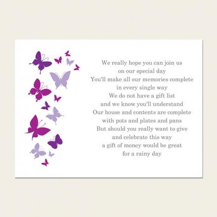 Summer Butterflies - Gift Poem Cards