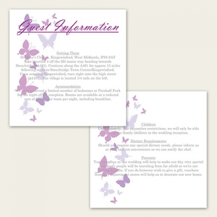 Summer Butterflies - Guest Information