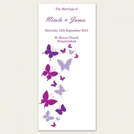 Summer Butterflies - Order of Service Concertina