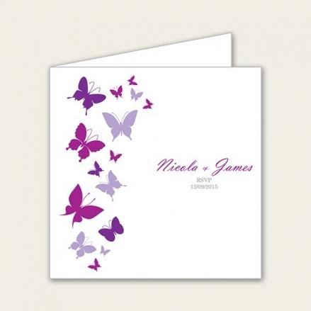 Summer Butterflies - Wedding RSVP Cards