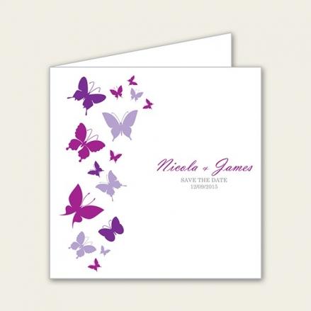 Summer Butterflies - Save the Date Cards