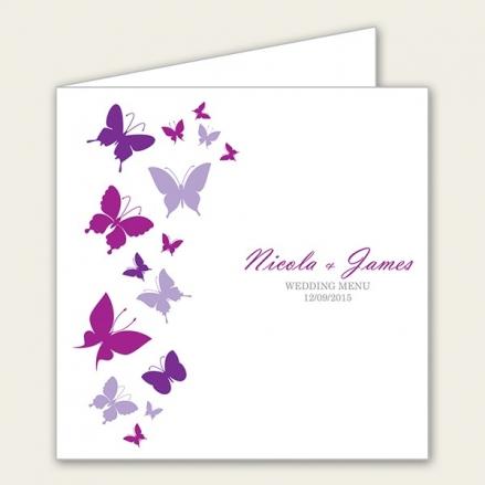 Summer Butterflies - Wedding Menus