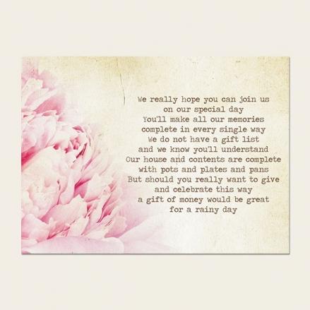 Vintage Peony - Gift Poem Cards