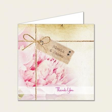 Vintage Peony - Wedding Thank You Cards