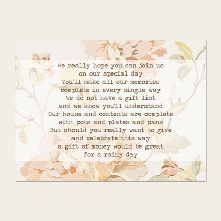 Shabby Chic Flowers - Gift Poem Cards