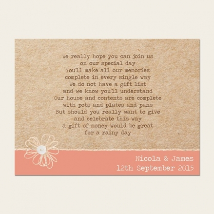 Vintage Bunting & Love Birds - Gift Poem Cards