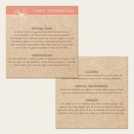 Vintage Bunting & Love Birds - Guest Information