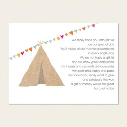 Festival Tipi - Gift Poem Cards