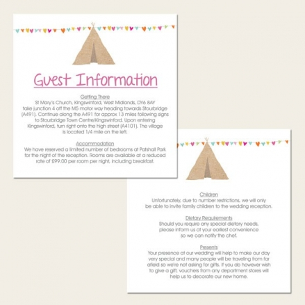 Festival Tipi - Guest Information