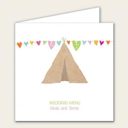 Festival Tipi - Wedding Menus