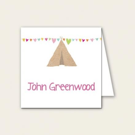 Festival Tipi - Wedding Place Cards