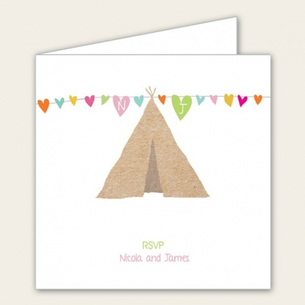 Festival Tipi - Wedding RSVP Cards
