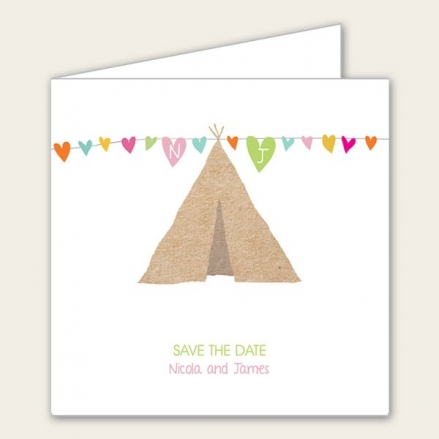 Festival Tipi - Save the Date Cards