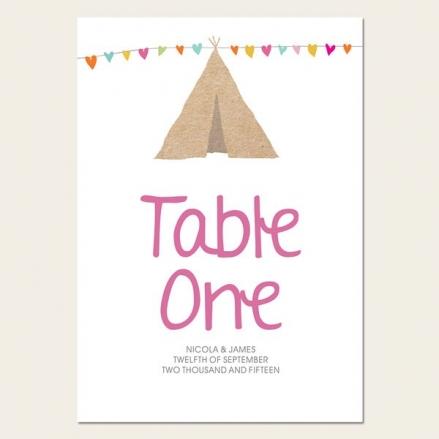 Festival Tipi - Table Name/Number