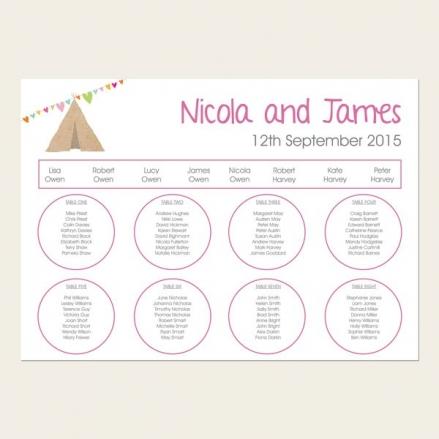 Festival Tipi - Table Plan