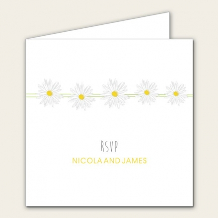 Delicate Daisies - Wedding RSVP Cards