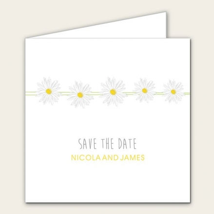 Delicate Daisies - Save the Date Cards