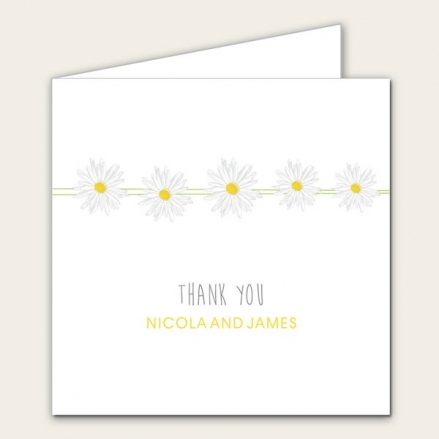 Delicate Daisies - Wedding Thank You Cards