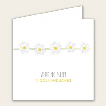 Delicate Daisies - Wedding Menus