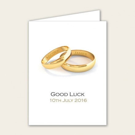 Add Your Names Gold Rings - Lottery Ticket Holder