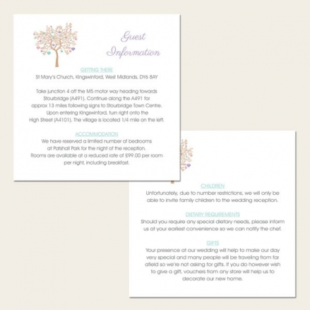 Love Tree - Guest Information