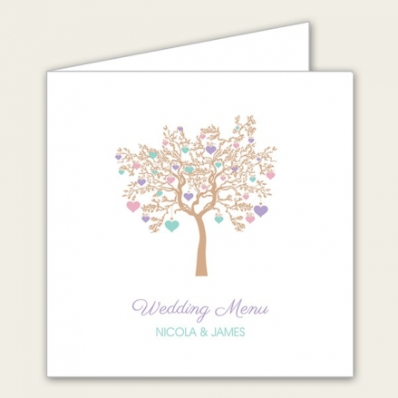 Love Tree - Wedding Menus