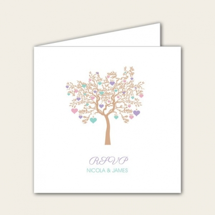 Love Tree - Wedding RSVP Cards