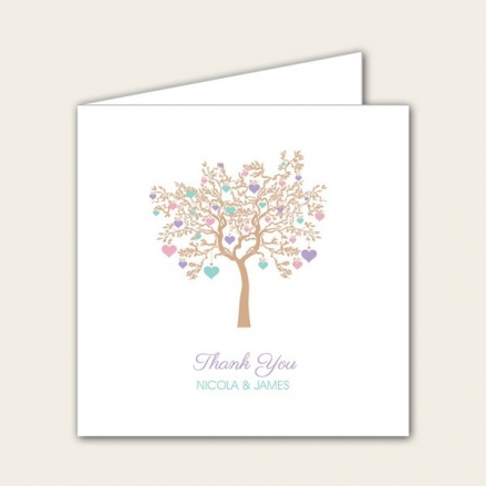 Love Tree - Wedding Thank You Cards