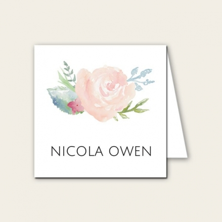 Watercolour Roses - Wedding Place Cards