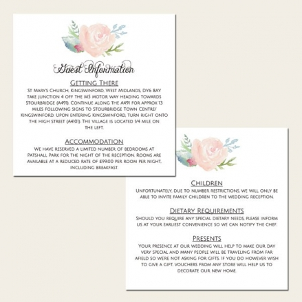 Watercolour Roses - Guest Information