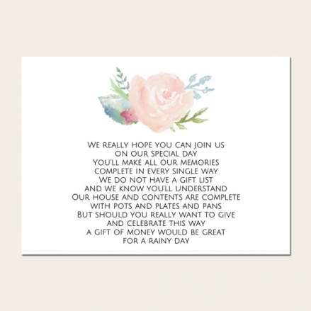 Watercolour Roses - Gift Poem Cards