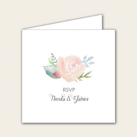 Watercolour Roses - Wedding RSVP Cards