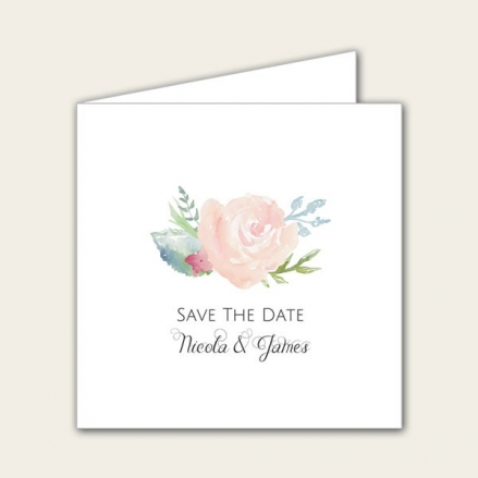 Watercolour Roses - Save the Date Cards