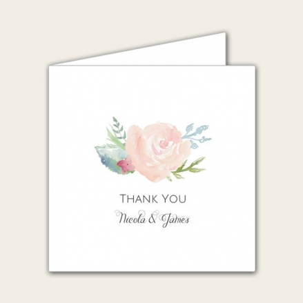 Watercolour Roses - Wedding Thank You Cards
