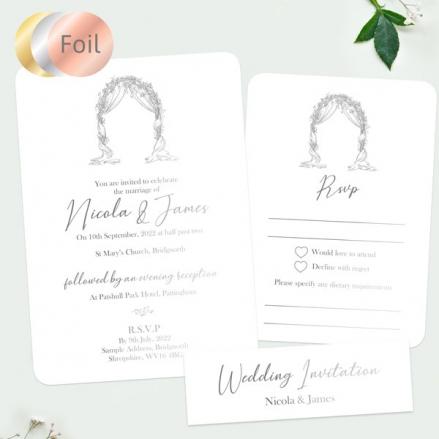 Floral-Wedding-Arch-Foil-Boutique-Sample