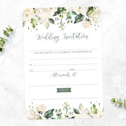 white-flower-garland-ready-write-wedding-invitations