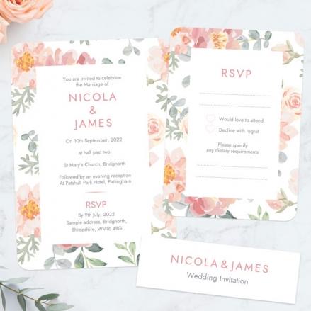 Coral-Watercolour-Flowers-Boutique-Wedding-Invitation-&-RSVP