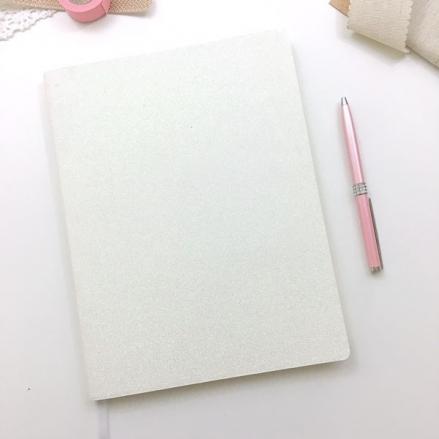Time to Shine - White Glitter Journal