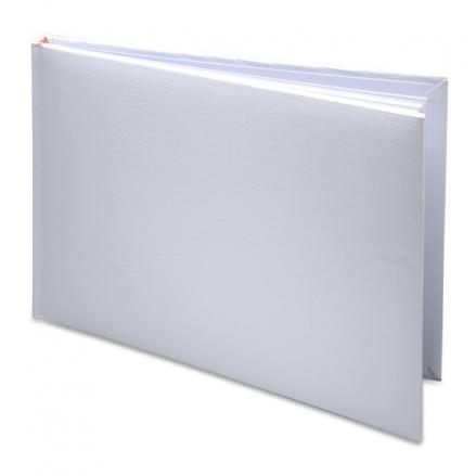 Plain DIY White Condolence Guest Book