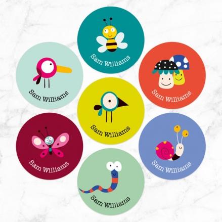 Wildlife Friends - Personalised Kids Stickers - Pack of 35
