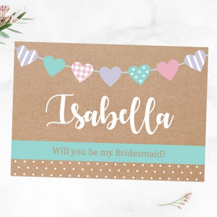 Will You Be My Bridesmaid? - Heart Bunting